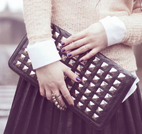 girly touches to studs and leather…