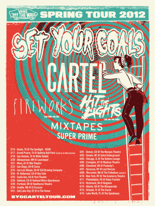 Set Your Goals' spring tour with Cartel just kicked off last week. There's still plenty of time to catch them out on the road. Grab a friend, call in sick to work, and roadtrip it if you must. It's okay, we'll vouch for you.