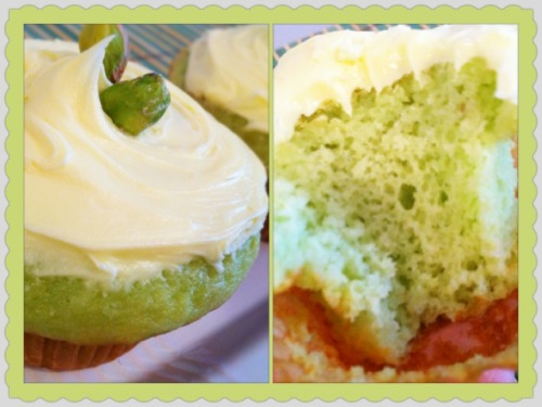 Super Easy Pistachio Cupcakes w Buttercream Frosting Recipe My good friend Nars, a cupcake lover like me- was sweet enough to email me a recipe she came across. It's good to have friends that know what you like because I LOVE this cupcake recipe. It's easy for anyone who is apprehensive about baking- if you feel intimidated about making your frosting then you could skip that step and just use store bought- but I plead with you to try making your own frosting- it makes a huge difference!  Pistachio Cupcakes Recipe adapted from: http://shewearsmanyhats.com/2012/03/pistachio-cupcakes/ The original recipe called for white chocolate shavings and curls, but I chose to just place pistachio nuts on top because I have a huge bag of nuts laying around. This cupcake recipe is really delicious and moist and I must say it's pretty delicious without any frosting too!  Ingredients: 1 box of white cake mix & all ingredients it says on the package (usually eggs, oil, water) 1 box of pistachio pudding mix ¾ cup chopped pistachio nuts *optional 24 whole pistachio nuts (set aside to top) *optional 1 batch of Vanilla Buttercream Frosting Directions: Combine cake mix and its ingredients according to package directions. Add in pudding mix and combine well. Gently stir in chopped pistachio nuts into batter. Fill cupcake liners about 2/3rd  full with cupcake batter. Bake as directed on cake mix packaging. I baked my cupcakes at 22 minutes at 350 degrees. Cool in pan for 10 minutes and then cool on wire rack completely before frosting and decorating as you like. Classic Vanilla Buttercream Frosting This recipe is actually one of my favorite frosting recipes from this blog.  You can see step by step photos here.   Ingredients: 1 cup unsalted butter (2 sticks or 1/2 pound), softened Ideal texture should be like ice cream. 3-4 cups confectioners' (powdered) sugar, SIFTED 1/4 teaspoon table salt 1 tablespoon vanilla extract up to 4 tablespoons milk or heavy cream Beat butter for a few minutes with a mixer with the paddle attachment on medium speed. Add 3 cups of powdered sugar and turn your mixer on the lowest speed (so the sugar doesn't blow everywhere) until the sugar has been incorporated with the butter. Increase mixer speed to medium and add vanilla extract, salt, and 2 tablespoons of milk/cream and beat for 3 minutes. If your frosting needs a more stiff consistency, add remaining sugar. If your frosting needs to be thinned out, add remaining milk 1 tablespoons at a time.