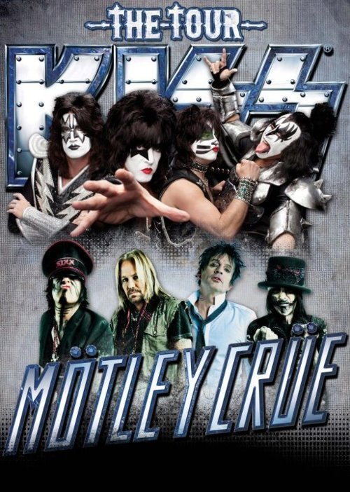 KISS. Motley Crue. Summer 2012. The Tour. Need we say more? Both bands will be sharing the stage for a massive tour later this year. Tickets officially go on sale this Friday via Ticketmaster and Live Nation. 7/20 - Bristow, VA @ Jiffy Lube Live7/21 - Virginia Beach, VA @ Farm Bureau Live7/22 - Raleigh, NC @ Time Warner Cable Music Pavilion7/24 - Atlanta, GA @ Aaron's Amphitheatre at Lakewood7/25 - Charlotte, NC @ Verizon Wireless Amphitheatre7/27 - West Palm Beach, FL @ Cruzan Amphitheater7/28 - Tampa, FL @ 1-800-ASK-GARY Amphitheatre7/31 - Pelham, AL @ Oak Mountain Amphitheatre8/3 - Houston, TX @ Cynthia Woods Mitchell Pavilion 8/4 - Dallas, TX @ Gexa Energy Pavillion8/7 - Albuquerque, NM @ Hard Rock Casino Presents The Pavilion 8/8 - Englewood, CO @Comfort Dental Amphitheatre8/10 - Phoenix, AZ @ Ashley Furniture HomeStore Pavilion8/11 - Las Vegas, NV @ Mandalay Bay Arts Center8/12 - Chula Vista, CA @ Cricket Wireless Amphitheatre8/14 - Irvine, CA @ Verizon Wireless Amphitheater8/16 - Concord, CA @ Sleep Train Pavilion at Concord8/18 - Auburn, WA @ White River Amphitheatre8/19 - Ridgefield, WA @ Sleep Country Amphitheater8/24 - Grand Junction, CO @ Rock Jam8/26 - Tulsa, OK @ BOK Center (on sale 3/30)8/27 - Maryland Heights, MO @ Verizon Wireless Amphitheater8/29 - Minneapolis, MN @ Minnesota State Fair (on sale 3/31)8/31 - Cincinnati, OH @ Riverbend Music Center9/1 - Noblesville, IN @ Klipsch Music Center9/2 - Pittsburgh, PA @ First Niagara Pavilion9/4 - Nashville, TN @ Bridgestone Arena9/5 - Clarkston, MI @ DTE Energy Music Theatre9/7 - Tinley Park, IL @ First Midwest Bank Amphitheatre9/8 - East Troy, WI @ Alpine Valley Music Theatre9/11 - Allegan, MI @ Allegan County Fair (on sale 5/5)9/12 - Cleveland, OH @ Blossom Music Center9/13 - Toronto, ON @ Molson Canadian Amphitheatre9/15 - Darien Center, NY @ Darien Lake Performing Arts Center9/16 - Mansfield, MA @ Comcast Center9/18 - Scranton, PA @ Toyota Pavilion at Montage Mountain9/19 - Camden, NJ @ Susquehanna Bank Center9/21 - Holmdel, NJ @ PNC Bank Arts Center9/22 - Wantagh, NY @ Nikon at Jones Beach Theater9/23 - Hartford, CT @ Comcast Theatre