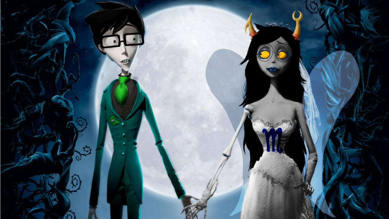 petite-chevre:  Oh god I had to do this. Its Troll Tim Burton's The Corpse 8itch The Spider 8ride !