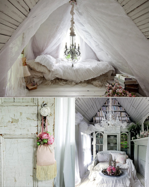 milk-honey-tea:  I would love to have this room ♥