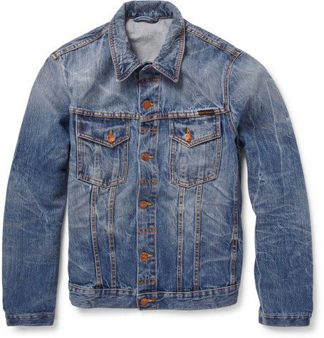 Nudie Jeans Slim Fit Washed Denim Jacket $285