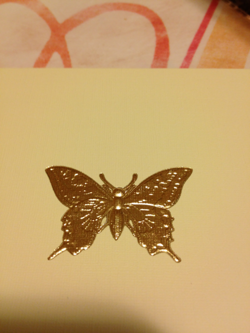 Gold foil butterfly. A simple thank you card can do wonders of touching your soul. Thank you Rawl, Linda and Tiiu