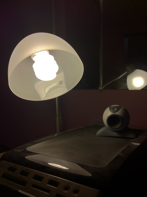 Lamp vs webcam vs HDR settings