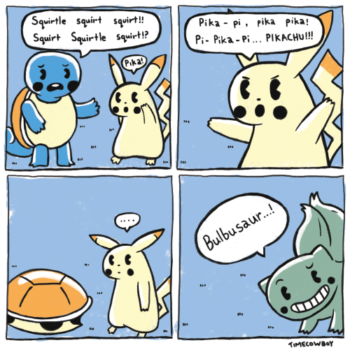 This is pretty funny if you can understand pokémon.