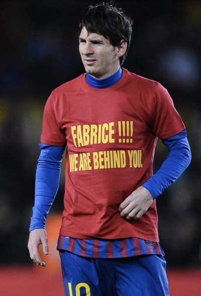 What a gesture. Messi is a boss. this blog has turned in to a Fabrice appreciation blog.