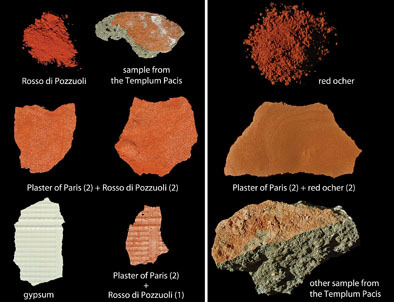 thesherd:  Ancient certification? The red layer of paint present on the surfaces of some blocks linked to Roman architecture may represent approval of the painted surface by architects or contractors.  (via Red-Painted Stones in Roman Architecture | American Journal of Archaeology)