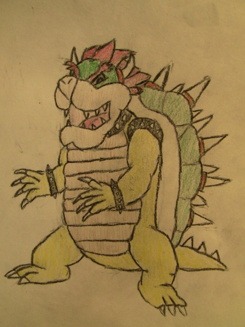 Bowser.  Giving Mario A try. Think it turned out well. :)