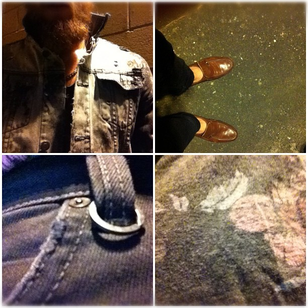 Tuesday night steeze. @zanerobeaus & @neuw333 (Taken with instagram) Jacket - ZANEROBE X NOBLE GENTLEMEN DIY Shoes - vintage italian loafers Singlet - Zanerobe Denim - Neuw