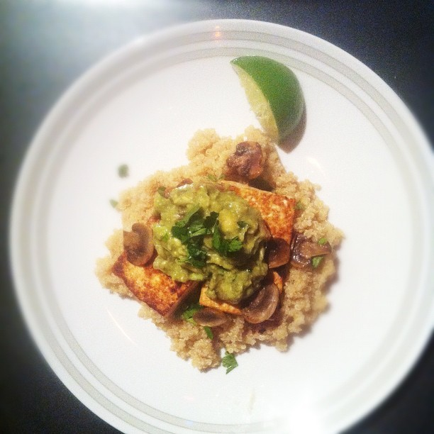 080 - chipotle tofu and avocado with quinoa #dinner #photoaday  (Taken with instagram)