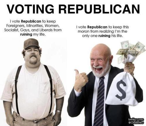 religiousragings:  I vote Republican…