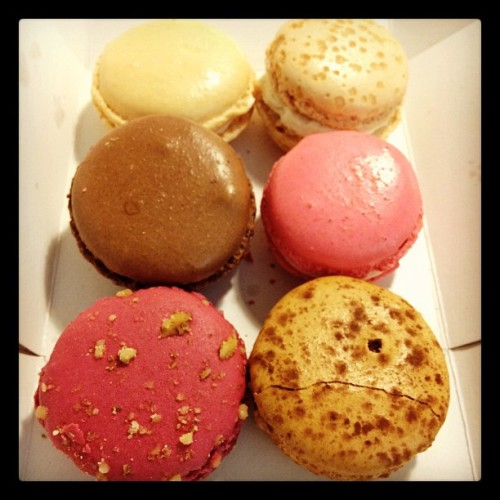 Miel macarons hehe (Taken with instagram)