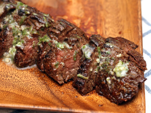 ffffood:  Grilled Chipotle-Rubbed Steaks with Lime Butter (via Serious Eats)
