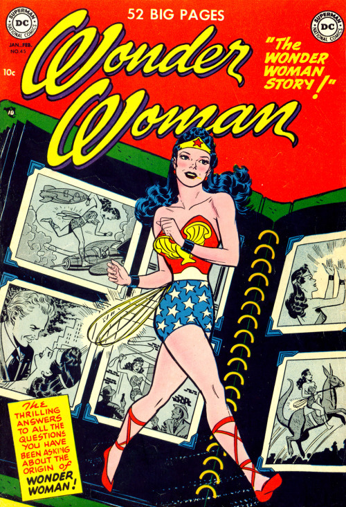 classiccomicbookcovers:  Wonder Woman #45 DC Comics January, 1951