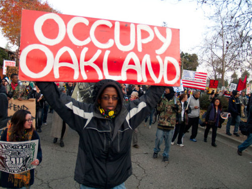 Occupy Oakland is working on reoccupying tonight in solidarity with OWS!