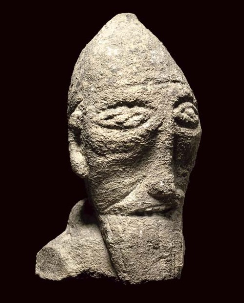 Male Head Celtic, 9th-12th century AD Christie's