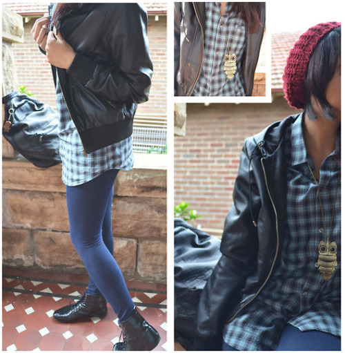 "please hype! :) (via Ses F.Leather Jacket, Supre Tights, Shiny Boots, Ben Sherman Spacey Dress Shirt (Ma1117 H) //""Girls Will Be Boys"" by Shirley Ninh // LOOKBOOK.nu)"