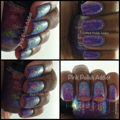 Day 21 | Kleancolor Chunky Holo Purple #31dayuntrieds #kleancolor #nailpolish #holonailpolish (Taken with instagram)