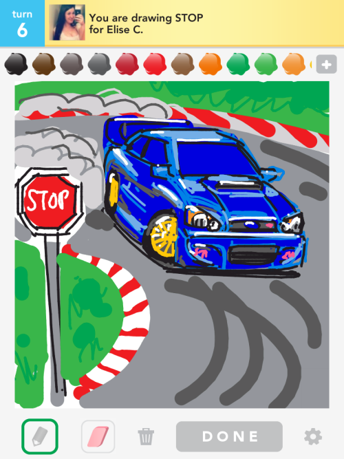 saybobby:  For my friend, since I drew an EVO for my brother, here's an STI for some of my friends