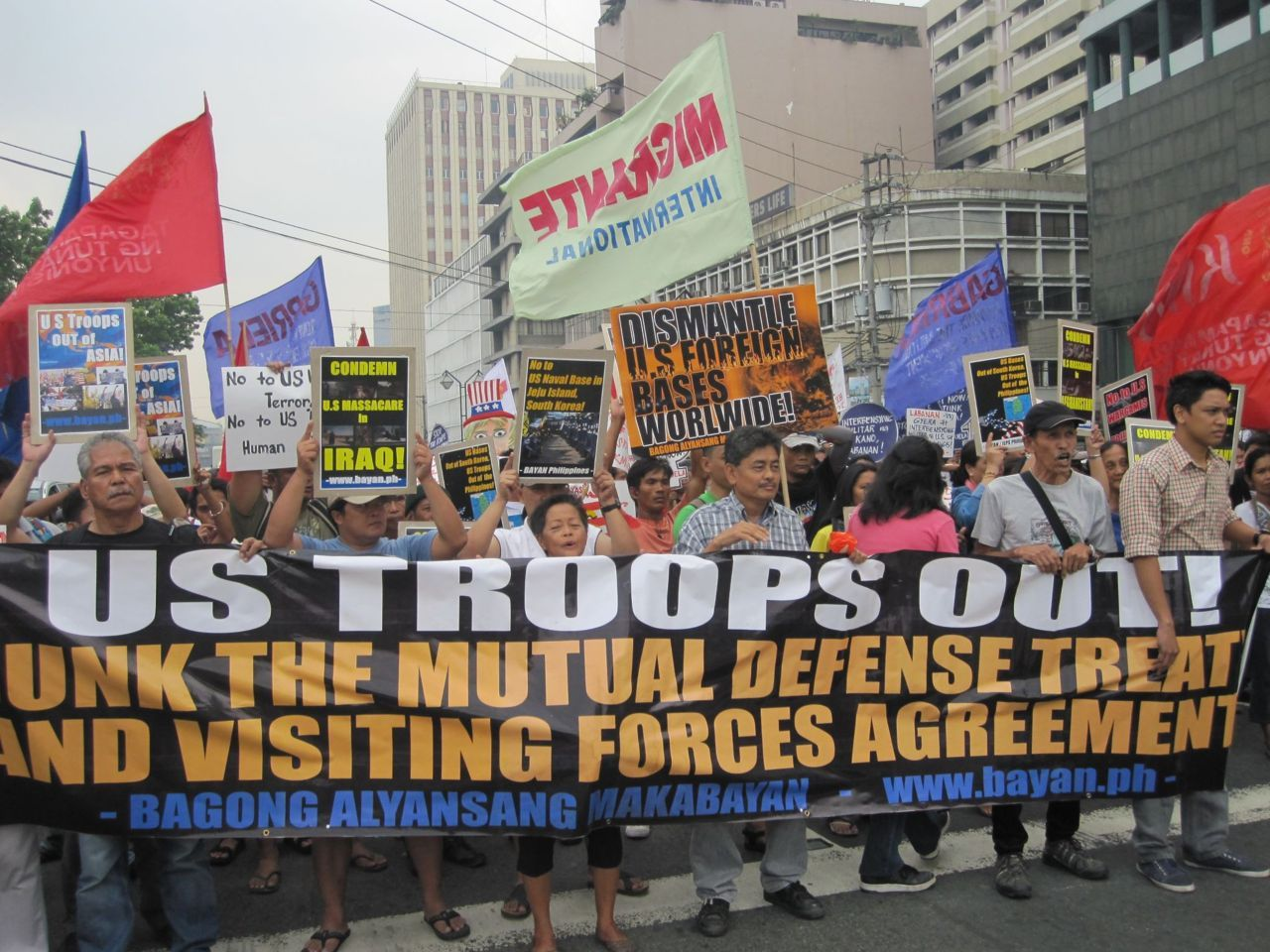 March against U.S. imperialist occupation of the Philippines