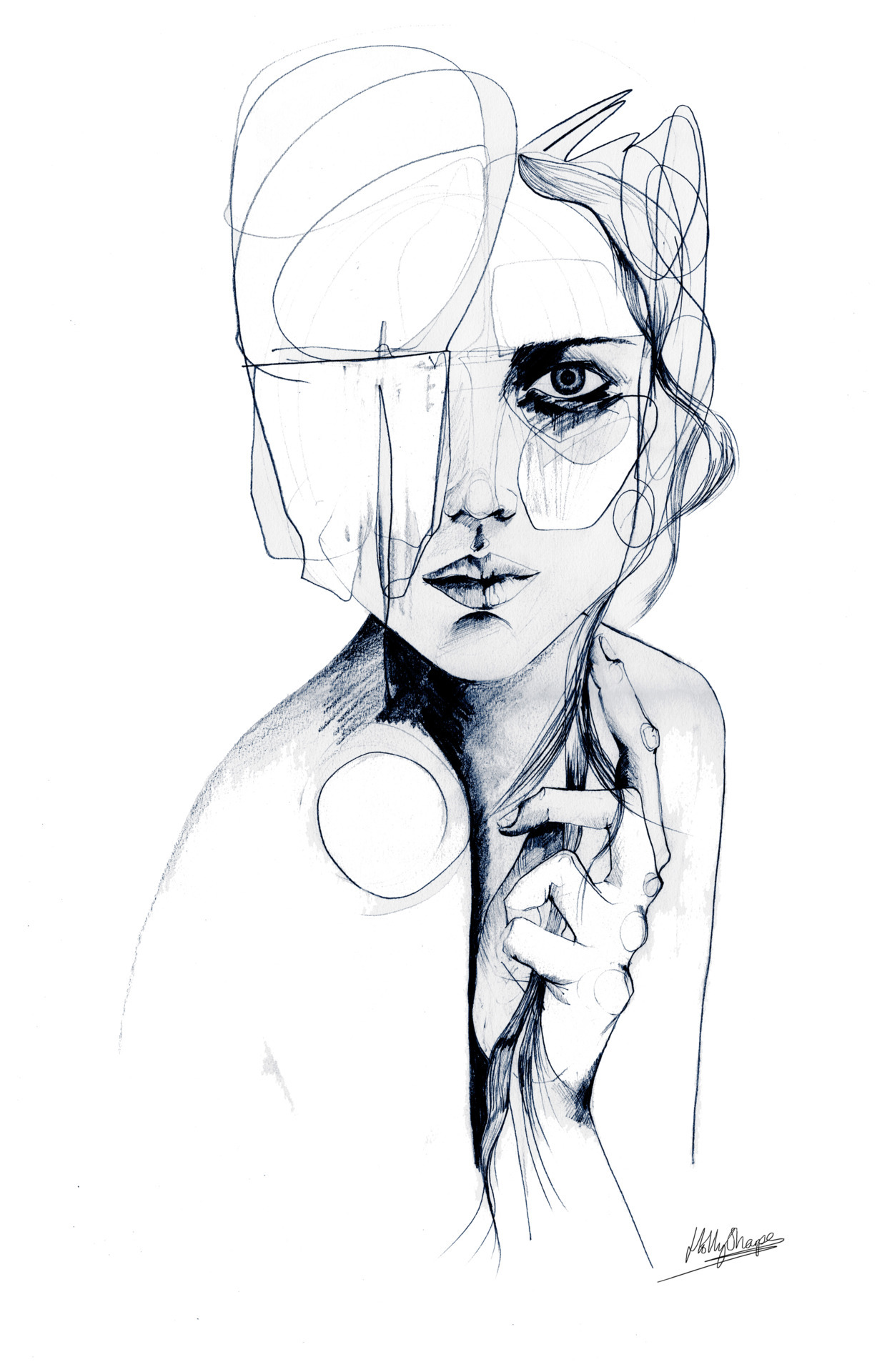 Sketch V, by Holly Sharpe, buy the Original or as a print HERE    Follow me on facebook   and on tumblr :)❤