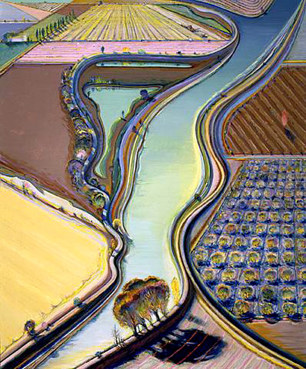Wayne Thiebaud: Winding River, 2002.