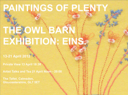 New exhibition poster by artist Laura Hathaway. Come along! 13-21 April 2012