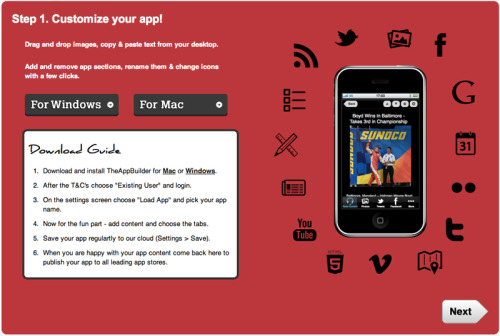 JamPot's new AppBuilder asks a series of questions and spits out a genuine, though limited-function, app. It could blow the market wide open.