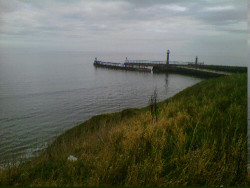 After biking for 5hours we finally got to whitby :')