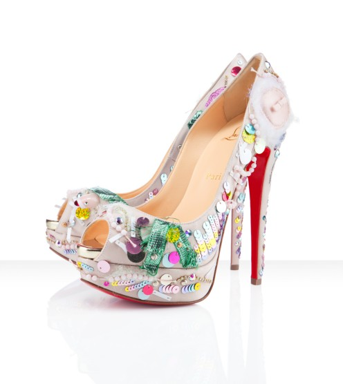 sinnamonscouture:  Killer Shoes ~ Christian Louboutin 'Make Up Trash' ($2,495)
