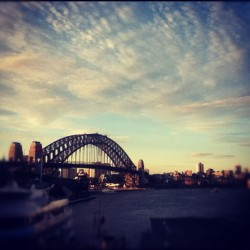 The Magic Flute…was shit. But the harbour bridge was looking fineeee :) #sunset #water #harbour #darling #circular #quay #bridge #clouds #sky #ferry #boat #igers #ignation #instagood #instamood #iphonesia #instadaily #instagramers #picoftheday (Taken with instagram)