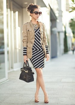 pretaportre:  Fashion Blogger Wendy Nguyen playing with different patterns and textures.  Jacket - Sanctuary,  Dress - LAmade,  Bag - Marco Tagliaferri, Shoes - Christian Louboutin,  Accessories - Prada sunglasses, necklace Stella & Dot.