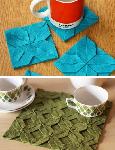 southernsara:  (via DIY Modular Felt Trivet and Coasters How About Orange | Apartment Therapy)