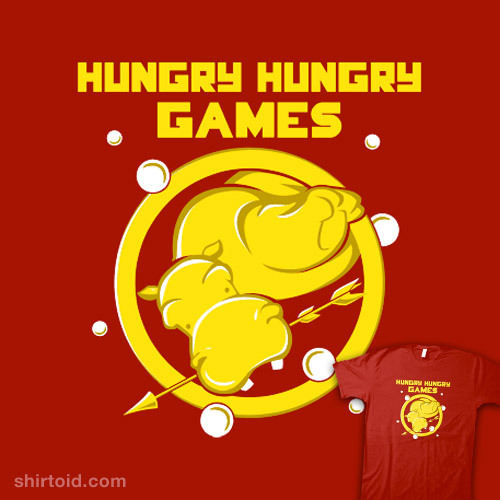 shirtoid:  Hungry Hungry Games available at SnorgTees