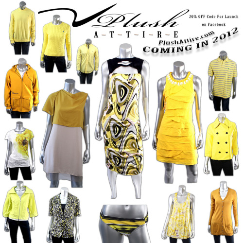 The NEW Yellow Monochromatic Plush Attire AD