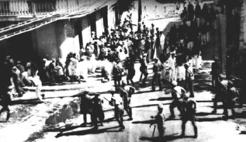 fuckyeahmarxismleninism:  March 21, 1937 - Anniversary of the Ponce Massacre in Puerto Rico The Ponce Massacre occurred Palm Sunday, March 21, 1937, when a peaceful march in Ponce, Puerto Rico, turned into a bloody police slaughter, killing 18 Puerto Ricans and wounding over 200 others. The march had been organized by the Puerto Rican Nationalist Party to commemorate the ending of slavery in Puerto Rico by the governing Spanish National Assembly in 1873.  The march was also protesting the imprisonment, by the U.S. government, of Nationalist leader Pedro Albizu Campos on alleged sedition charges.  The bloodshed began when the Insular Police fired on the marchers - killing 18 unarmed civilians and wounding some 235 civilians, including women and children. A 7-year old girl was among those killed.  The Insular Police were under the direct military command of the U.S.-appointed governor of Puerto Rico, General Blanton Winship, who ordered the massacre — the largest in Puerto Rican history.