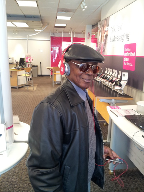 Old Head. 67 years old. Beats By Dre, Mp3 player by Apple. Music by Meek Mill.