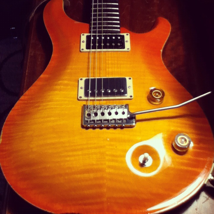 "xristopherandrews:  1994 PRS CE 22 ""Honey"""