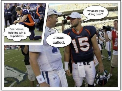 Tebow's Prayers Answered   Ask and you shall receive a demotion.