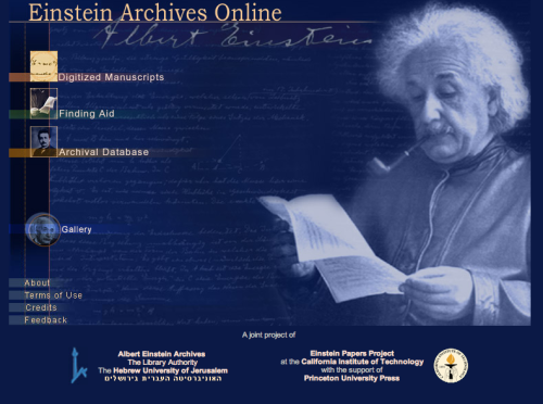 gjmueller:  More than 80,000 of Einstein's documents and drawings are available at the Einstein Archives Online!