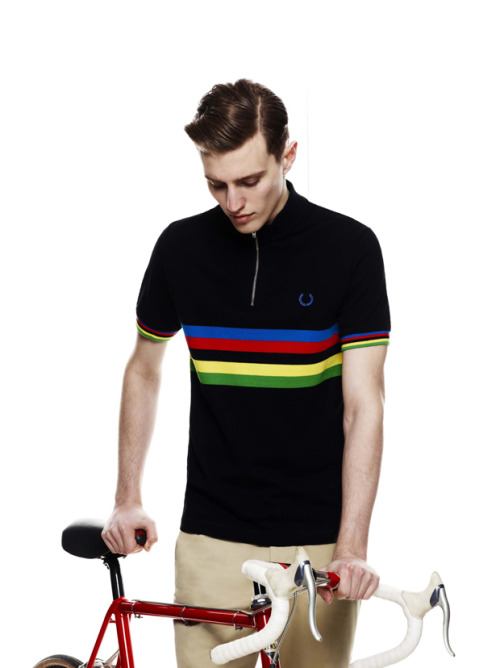 Fred Perry X Cycling Blank Canvas 2012 inspired on a vintage cycling shirt collection