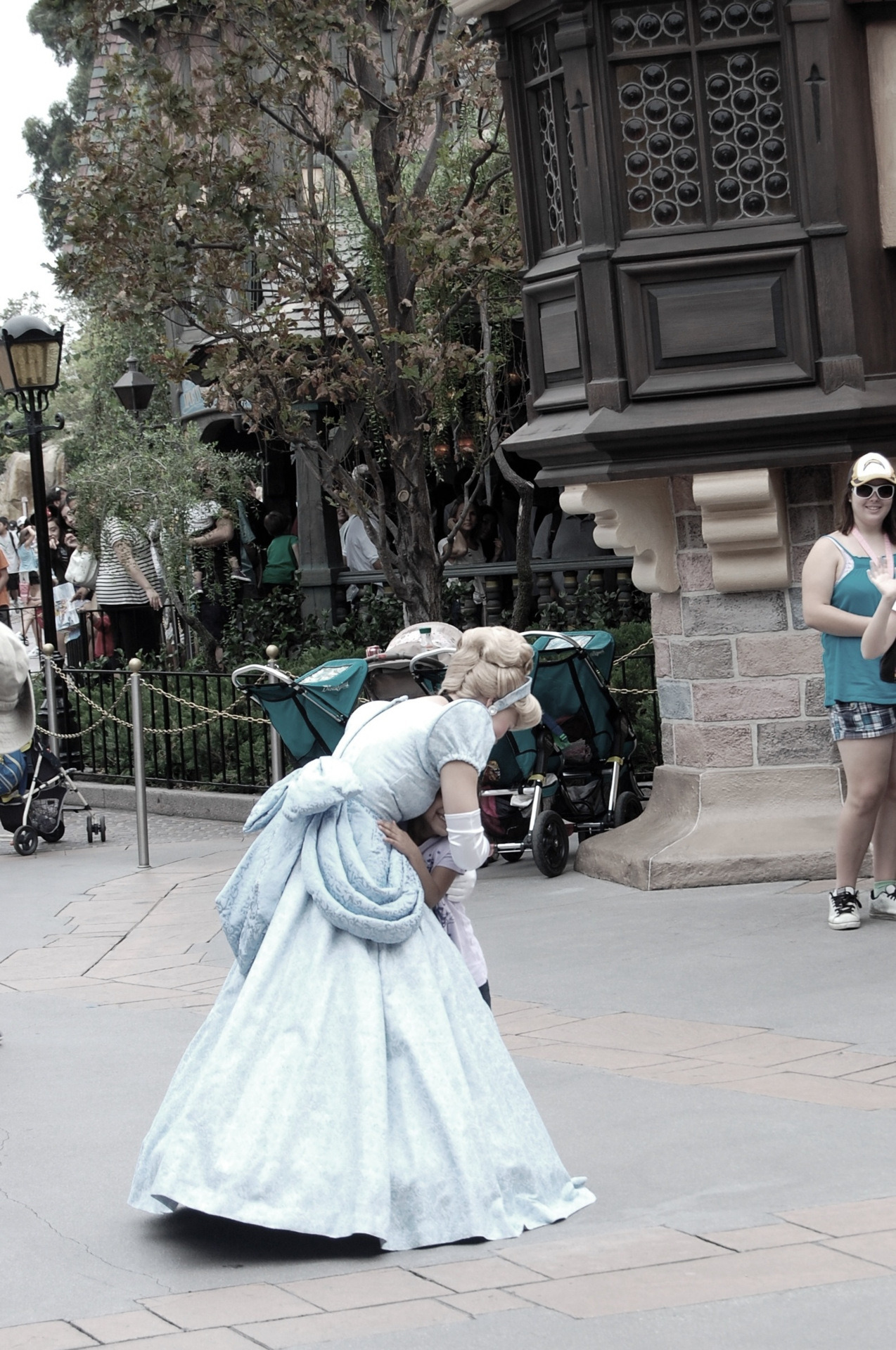"ashappyasdisney:  Just Cinderella, strolling through Fantasyland. If you've only ever been to Disneyland, you'll be like ""yeah, that's totally normal, so what?"" If you've only ever been to Walt Disney World, you get why this is insane. The characters did WHATEVER THEY WANTED. And the guests behaved like civilized human beings around them. It was madness, sheer madness.  I just recently discovered how much freedom the cast members get with character interaction in Disneyland. As much as I love Disney World, I really resent them for not having this kind of character interaction. It just seems so much more magical."