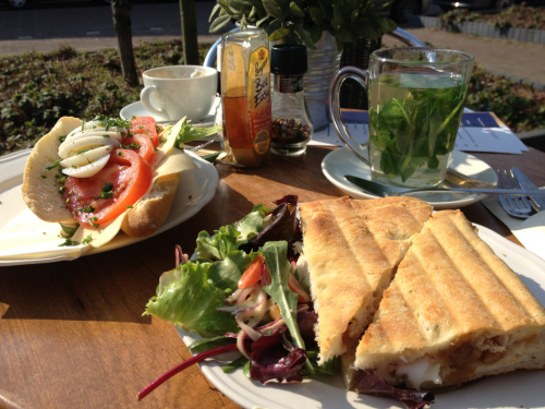 billi0nair:  theparadisekids:  first time in the year i could lunch outside, it was delicious ! @ restaurant madeleine  wow the notes are incredible    this looks so good omfg ajsdfkla