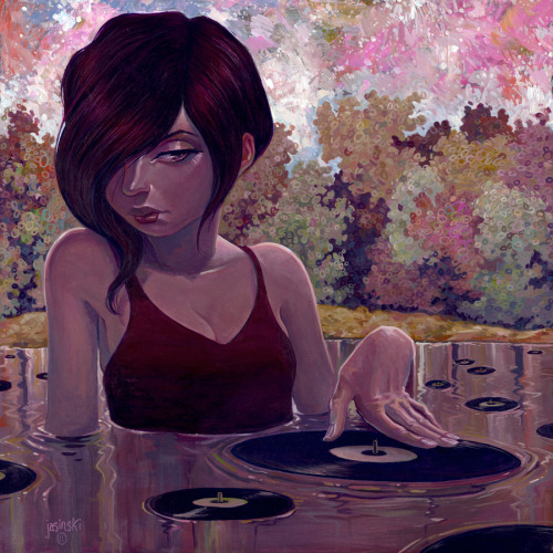 theonlymagicleftisart:  (Aaron Jasinski) Lilly scratch pad.12x12 inches. Acrylic on wood panel.