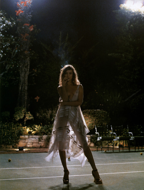 """Partie de plaisir"": Natalia Vodianova photographed by Mikael Jansson for Vogue Paris, February 2005"