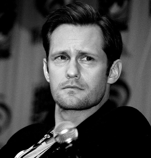santress:  Close-up of Alexander Skarsgard at WonderCon (March 17, 2012). (Source:  willdleeesq @ flickr)