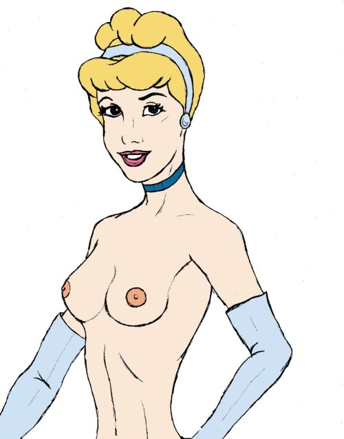 Cinderella hand drawn, digitally colored