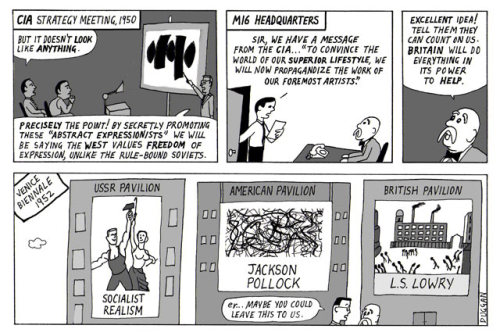 Peter Duggan's Artoons: Cultural cold war In Peter Duggan's redrawing of art history, he imagines how MI6 might have responded to the CIA's real-life decision in the 1950s to secretly promote abstract expressionists during the fight against communism
