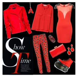 show time by erihang featuring ted baker bagsTopshop embellished dress, $110Stella McCartney linen top, ¥60,900Mango zip jacket, £70Miu Miu cropped jeans, $550Shock absorbing shoes, £90Ted baker bag, £69Marc by marc jacobs jewelry, $78Earrings, $18I Am Acrylic chain jewelry, £12